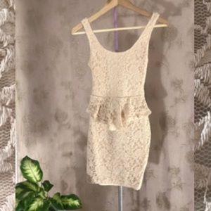 Super sexy lace peplum dress